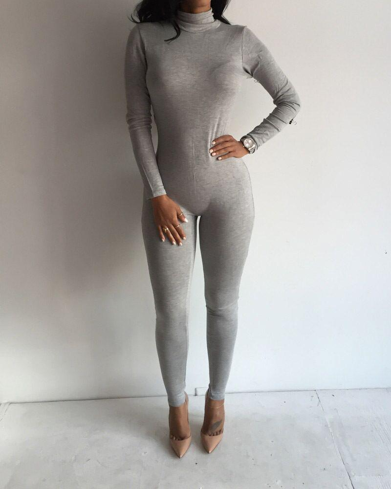 2019 New Arrival Women And Big Girls Long Sleeve Nightclub Jumpsuits