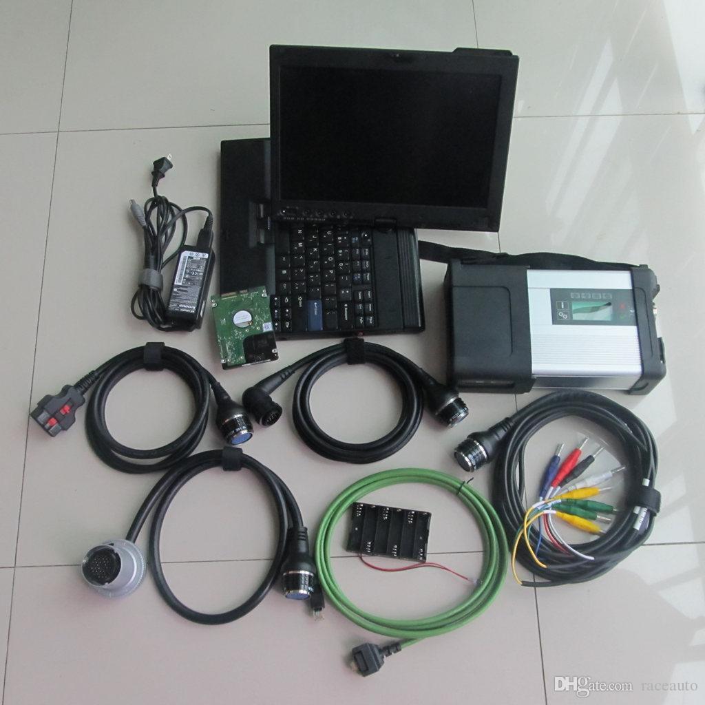 2019 super mb star c5 sd connect compact 5 para la herramienta de diagnóstico Benz con 2019.03v h-dd en un portátil de x200t listo para usar