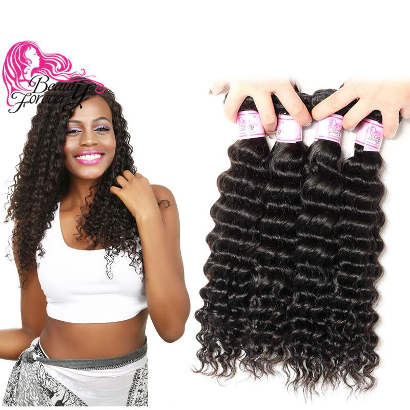 Beauty Forever Peruvian Hair Deep Wave Bundles 12-26inch 100% Human Hair Wefts 3 Pieces Natural Color Hair Weaving Wholesale Mix Length