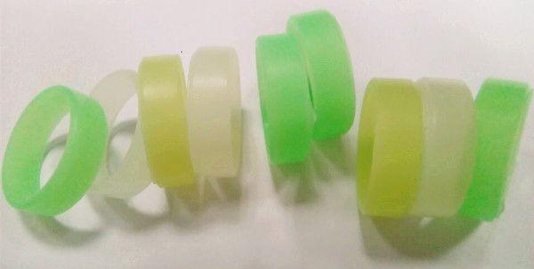 Glühen im Dunkeln mechanische Mod RDA schützende leuchtende Silikon Gummibänder Lumious Vape Ring 22mm Vape Mod Widerstand Gummi Vape Bands