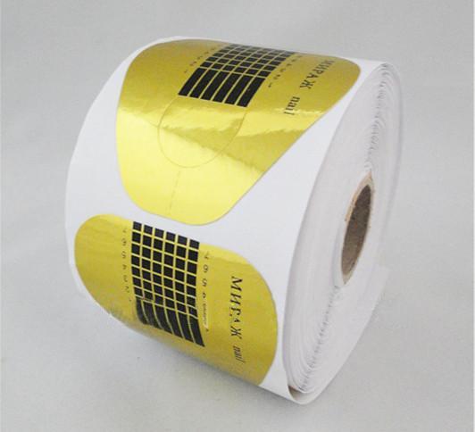 Venta al por mayor-2014 ¡Nuevo! Envío gratis + 500pcs Formas de uñas Tips Imprimación de arte para acrílico UV Gel Nail Extension Roll Golden Acrylic Claved Extention