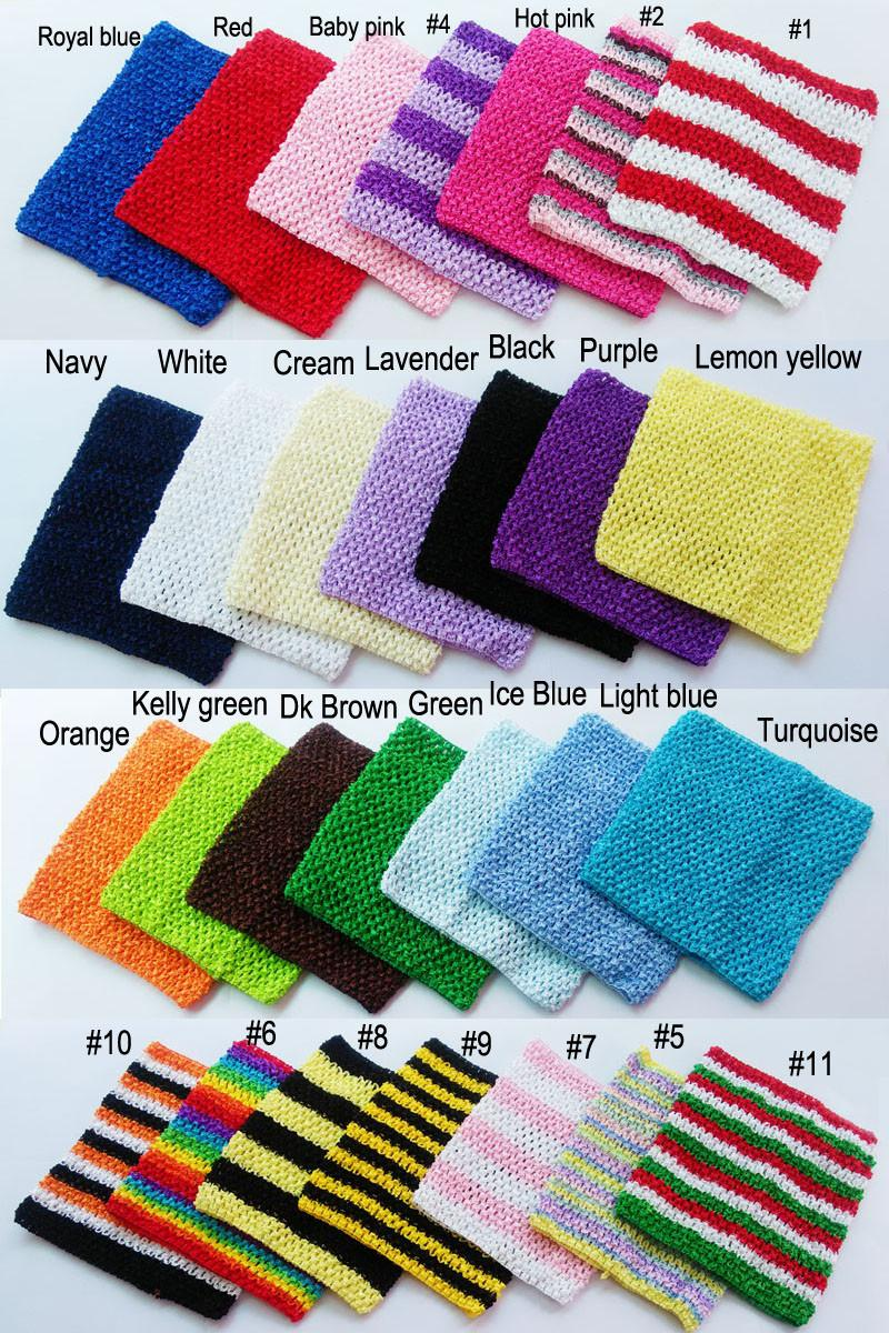 7.5x9inch Crochet Tutu Tube Tops Cute Color Baby Tube Top Chest Warp High Quality Crochet Tube Tops for Toddlers New Arrival CT0709