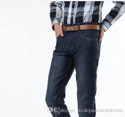 прибытие известный бренд джинсы тонкий тощий cal для человека брюки дизайнер бренда