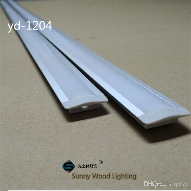 Trasporto libero 10set / lot 2m portato profilo in alluminio per la luce barra led, canale in alluminio striscia principale, corpo in alluminio impermeabile YD-1204