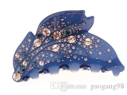 forcina (8 * 6.5 cm) (400-cn) jttujty della signora del fiore pieno di diamanti colorati