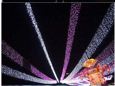 Ширина 10M Drop 0.65 м 360 из сопуселистой сосульки Строка светло-рождественские свадьбы Xmas Party Decoration Снесенная занавес света и хвостовой вилки AC 110V-220V