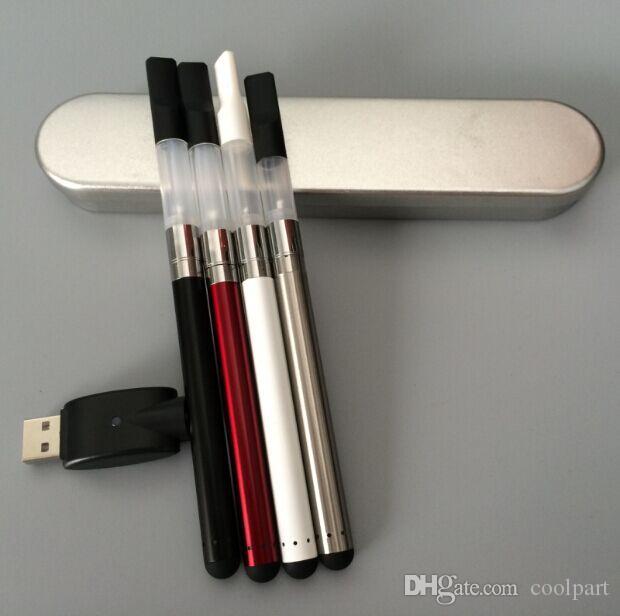 Новые бутон сенсорный испаритель ручка стартовые комплекты 280 мАч авто аккумулятор электронная сигарета со светодиодной подсветкой воск масло Ecig комплект тонкий Vape
