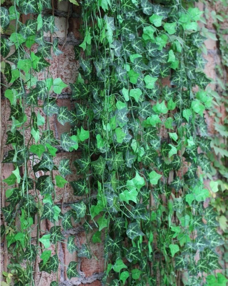 2.5 m Yapay Ivy Yaprak Garland Bitkiler Vine Fake Yeşillik Çiçekler Ev Dekor Plastik Yapay Çiçek Rattan Dökmeyen Cirrus