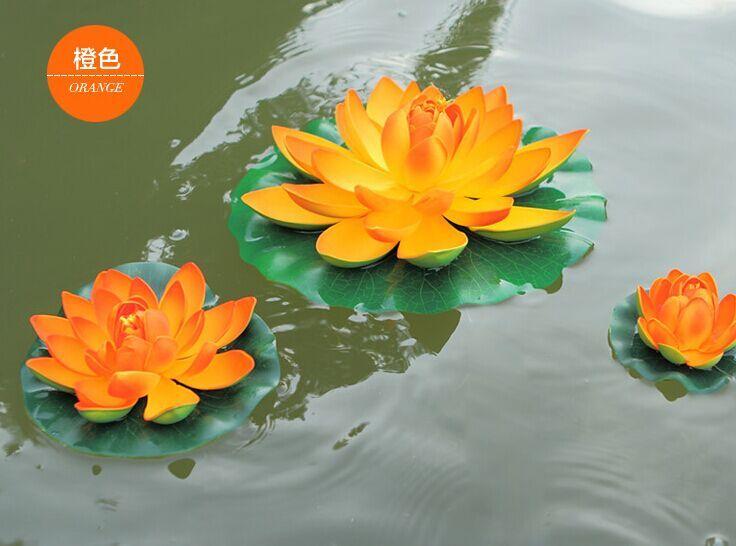 29 CM Çap Için Yapay Lotus Çiçek Yüzer Su Çiçekler Noel Süs Düğün Parti Dekorasyon Malzemeleri