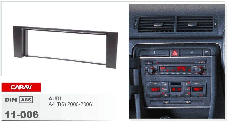 CARAV 11-006 AUDI A4 için En Kaliteli Radyo Fasya (B6) 2000-2006 Stereo Ön Pano Dash CD Trim Kurulum Kiti