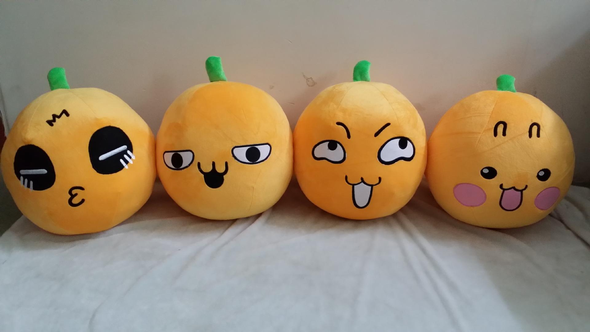 Pumpkin Face cushion Lovely Emoji Smiley throw pillow Stuffed