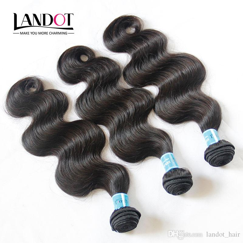 9A Grade Indian Body Wave Virgin Human Hair Weave Bundles 3Pcs Unprocessed Raw Indian Remy Hair Extensions Thick Soft Full Hair Double Wefts