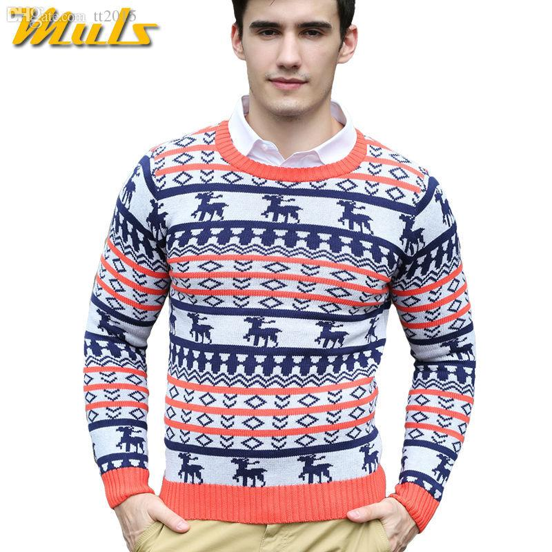 Ugly Christmas Sweater Men.2019 Wholesale Long Sleeve Ugly Christmas Sweaters Men O Neck Stylish Men Sweaters Pullover Knitwear Sweater With Deer Bobo From Tt2015 Price