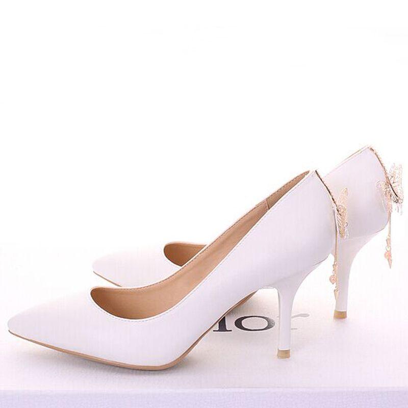 Scarpe da sera per donna, scarpe da sposa, colore bianco, scarpe da discoteca da donna