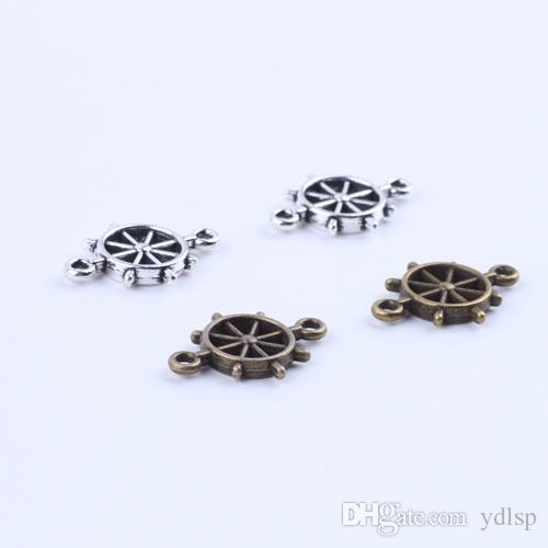 New fashion silver/copper retro Steering wheel pendant Manufacture DIY jewelry pendant fit Necklace or Bracelets charm 300pcs/lot 5265x