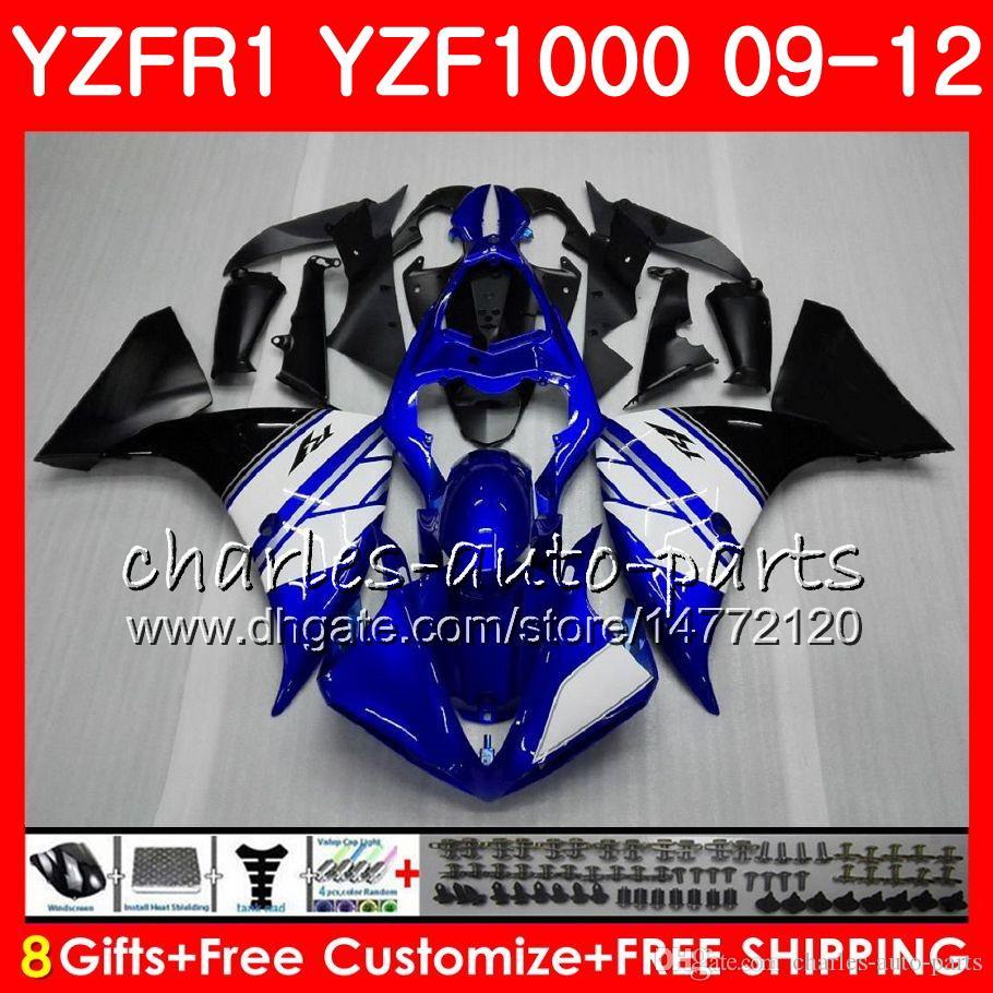 Stock azul Carrocería para YAMAHA YZF 1000 R 1 YZF-1000 YZF-R1 09 12 Cuerpo 85HM23 YZF1000 YZFR1 09 10 11 12 YZF R1 2009 2010 2011 2012 Carenado