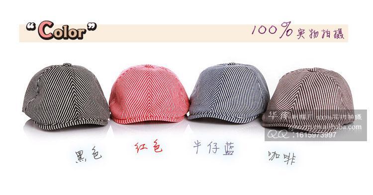 2015 осень прохладный новый горячий институт стиль дети уха муфты классический полосатый узор шляпы для детей чистого хлопка утконоса шапки для ребенка CR97