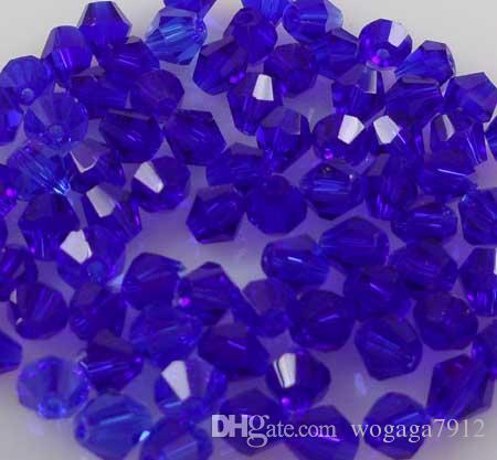 Оптовая 1000 шт. / лот блеск 5301# темно-синий кристаллы 4 мм Бикон бусины A08