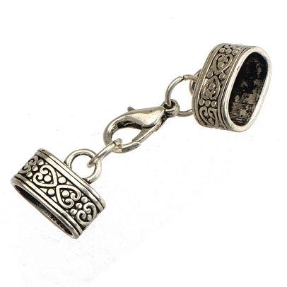 diy clasps for leather multi bracelets hooks toggles vintage silver metal heart love 12*7mm oval large hole jewelry findings handmade 50pcs