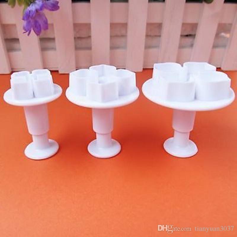 Livraison Gratuite 3 pcs / ensemble Hydrangea Plongeur Moule Gâteau Décoration Outils De Gâteau / Cookie Cutters TY1692