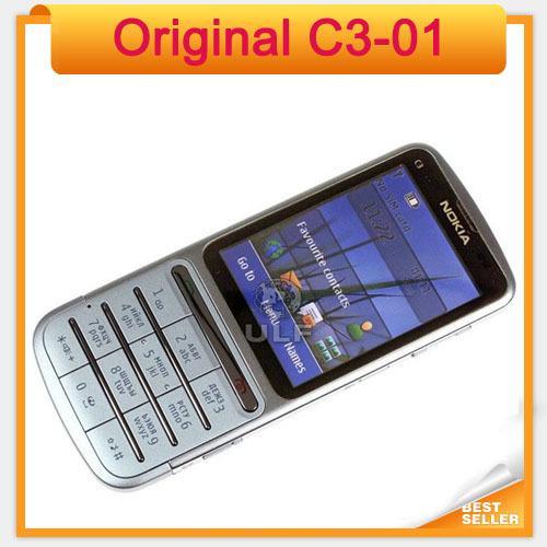 bd2791db85516 Original Nokia C3-01 Mobile Phone Unlocked C3-01 refurbished Cell Phone