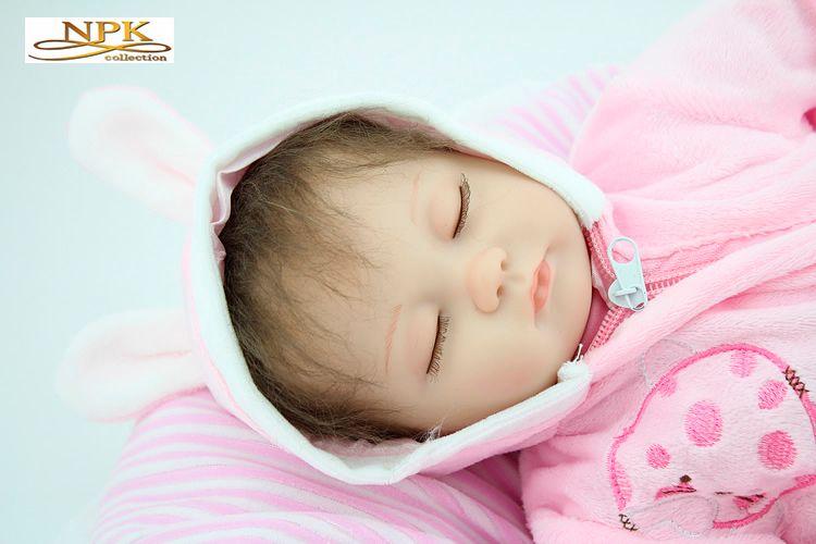 Подлинная Марка Baby Doll Reborn Baby силикагель родитель-ребенок игрушка 45 см 1.2 кг NPK Reborn Baby