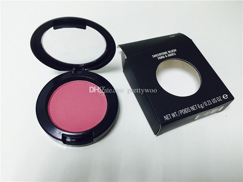 Hot new Makeup Shimmer Blush 24 Different Color No Mirrors No Brush 6g SHEERTONE BLUSH single one blush 500 pcs dhl