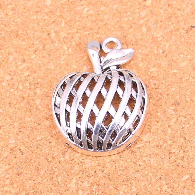 17pcs pendenti di fascini pendenti di mela placcati argento antico per monili europei del braccialetto che fanno DIY Handmade 38 * 29mm