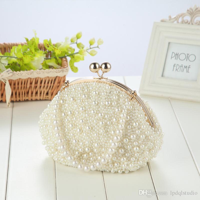 Captura de los ojos bolsos de novia 22 * 14 * 21 cm 2019 bolsos de lujo del diseñador bolsos bolso nuevo arrivail con perlas