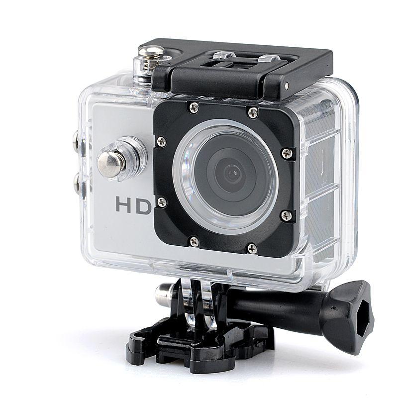 Hot selling 1080p HD Sport Camera - 2.0 Megapixels CMOS Sensor 140 Degree Lens Angle 30 Meter Waterproof Range Free shipping