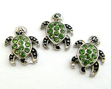 20 pz / lotto animale tartaruga di mare medaglione galleggiante medaglione accessori fai da te in lega misura per vetro medaglione vivente