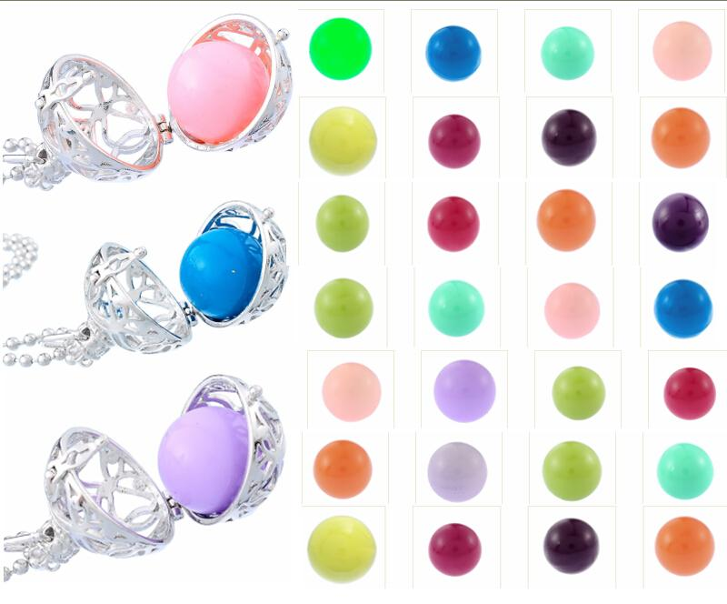 20 colors Multicolor 16mm 18mm Chime Ball Copper Metal Materials Pregnant Jean Sound Beads for Pendants Maternity Necklace