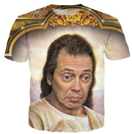 w151231 New Fashion Steve Buscemi candela T-shirt Harajuku Shirts T-shirt 3D casual Hip Hop Top Tee