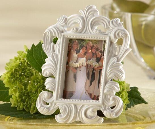 Fine 1200pcs/lot White Baroque photo frame wedding place card holder picture frames