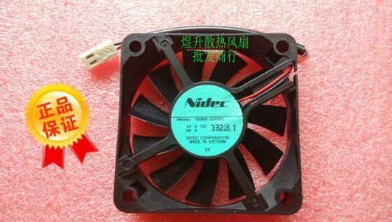 Nidec 60 * 60 * 15 D06R-12SS2 DC12V 0.06A 6CM 2 라인 전원 공급 장치 섀시 자동 팬