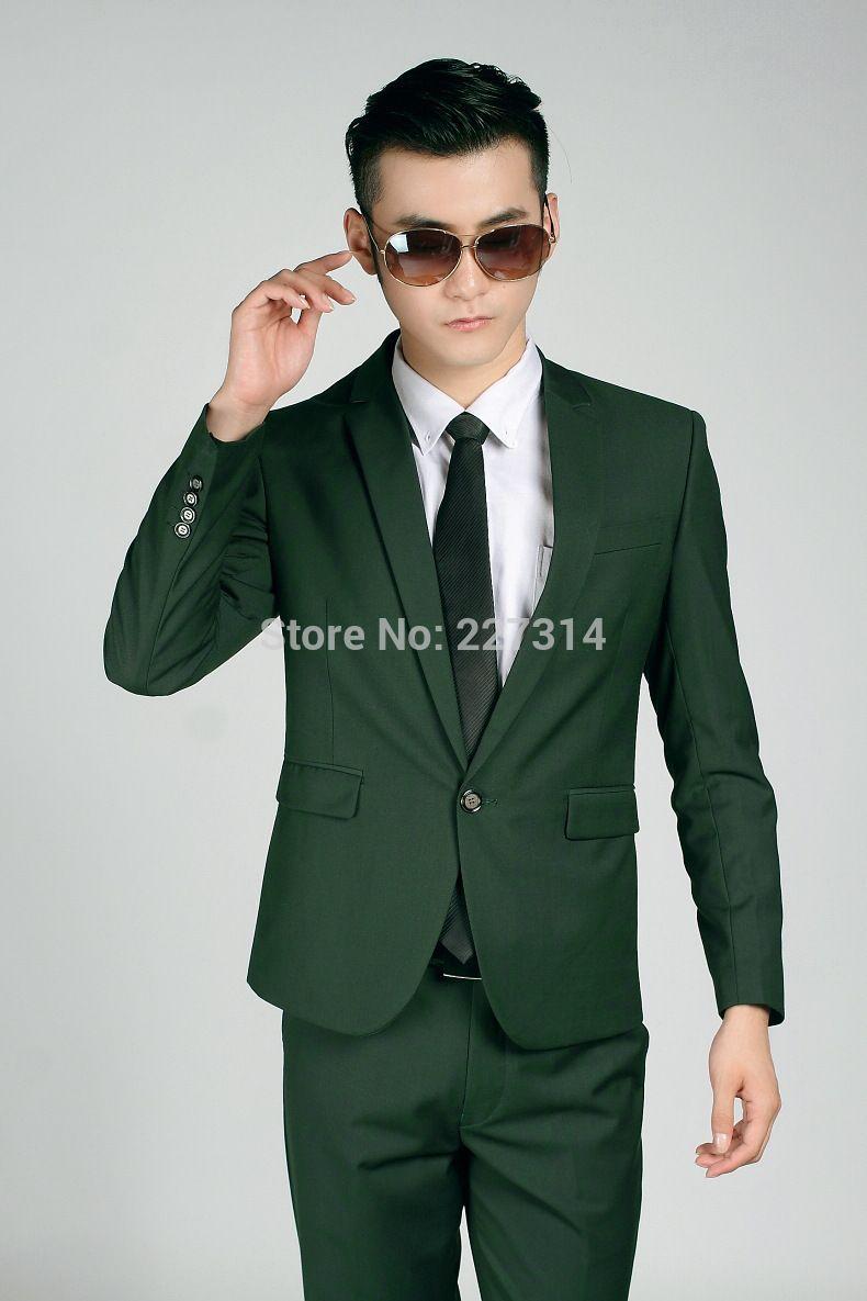 Dark Green Prom Suit | Tulips Clothing