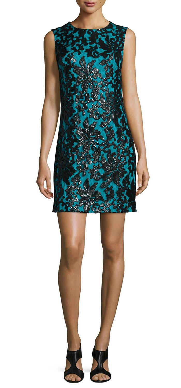 Luxo Mulheres Bordado Bainha Vestido Sem Mangas Vestidos 111565
