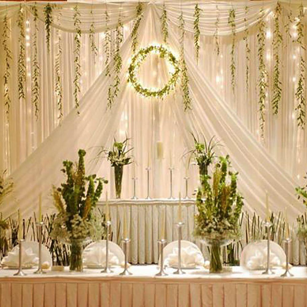 300 Led Window Curtain Icicle Lights String Fairy Light Wedding ...