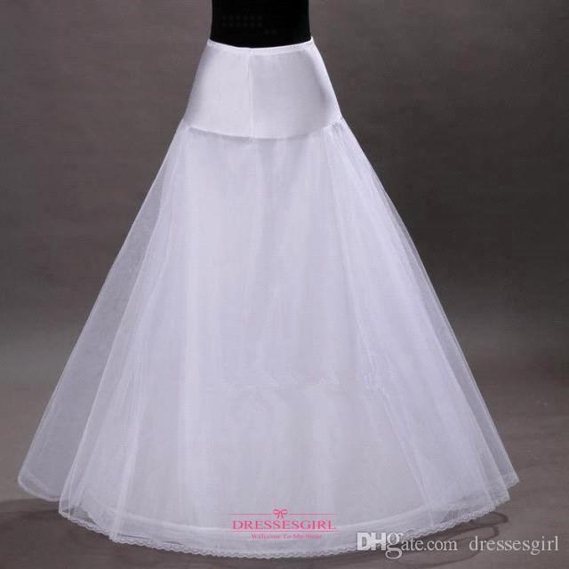 送料無料シンプルホワイトAラインフープレスクリノリンペチコートスリップ在庫入荷CPA202のウェディングドレス用アンダースカート
