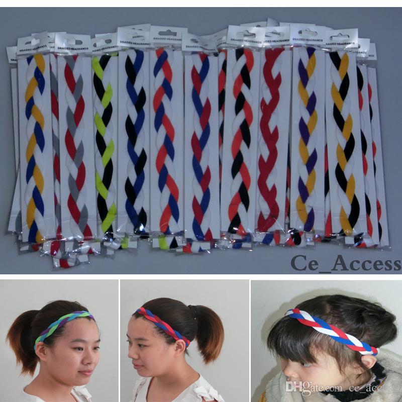 Sports Braided Elastic Headbands for Girls Softball