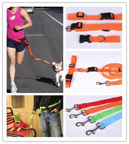 새로운 애완 동물 제품 개 실행 끈 연결 케이블 개 목걸이 견인 벨트 리드 애완 동물 견인 밧줄 개 훈련 공급자 1 PCS / Lot