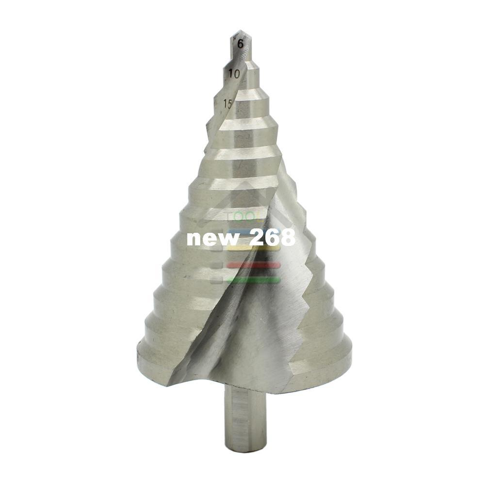 6-60MM 12 Sizes Steps Nitriding Spiral Step Core Cone Drill Bits Increment Drilling Reamer Reaming PVC Wood Plate Hole Cutter