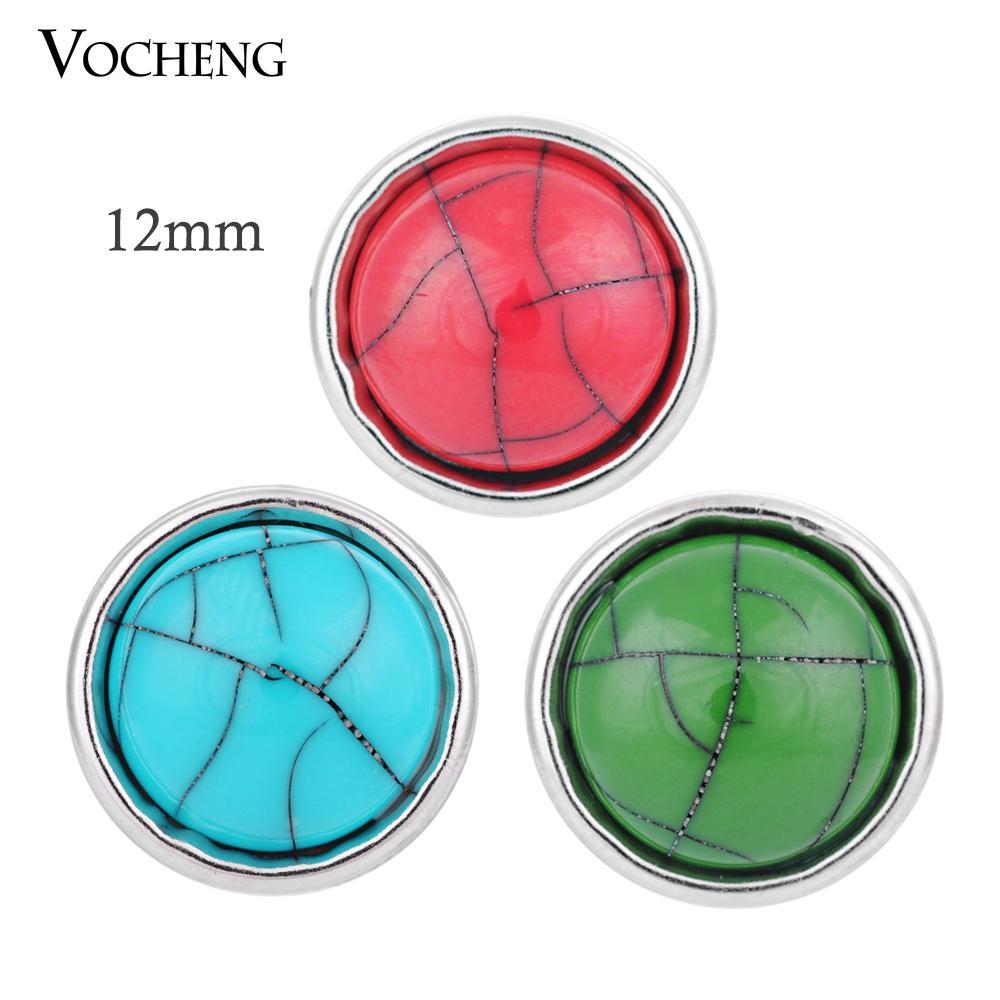 VOCHENG Noosa Küçük 12mm Değiştirilebilir Düğme Takı Aksesuar Zencefil Çırpıda Takı (Vn-506)