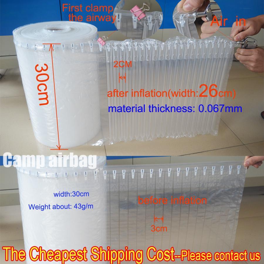 30CM Широкого Ролл надувных воздушная колонка (3 см) Buffer мешок защита продукта хрупких товаров