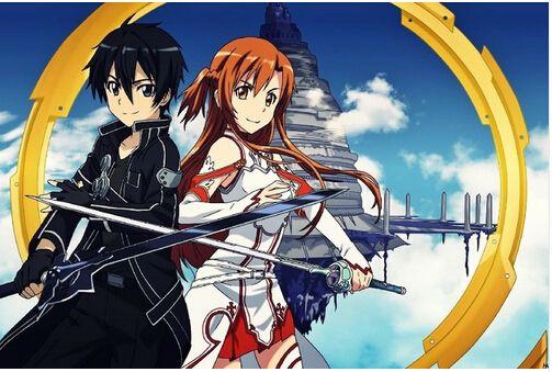 Sword Art Online Kirito Asuna Silk Wall Poster 48x3236x2418x12 Inch Girl Boy