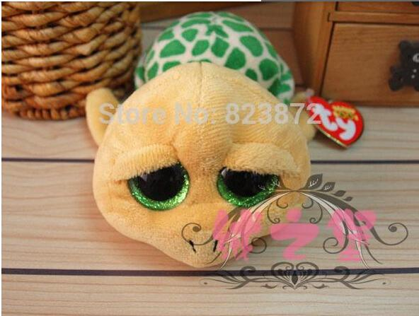 ea2c673ca75 2019 TY Plush Animals Beanie Boos Pokey Yellow Turtle Stuffed Animals 15cm  Ty Big Eyes Kawaii Plush Toys Kids Toys For Children From Zhenyan099