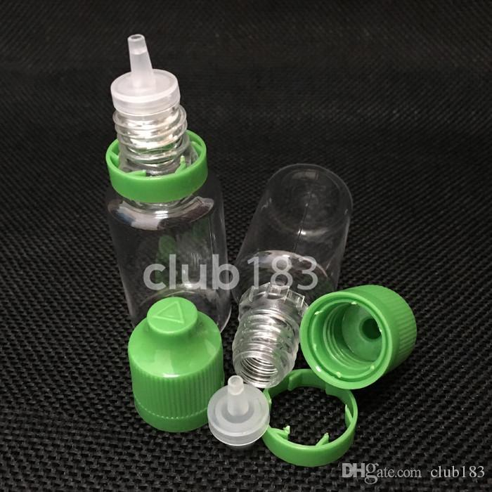 Free shipping Plastic bottles Colorful needle Bottle 15ml PET Plastic Dropper Bottles Tamper Child Proof Caps & Tips For E Vapor Cig Liquid