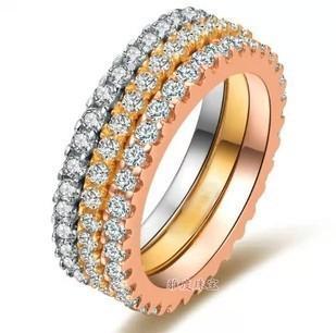 Gratis verzending Fijn groothandel - echt diamant boren, mode wild, Sona Diamond Ring, Diamond Ultra Mozambique