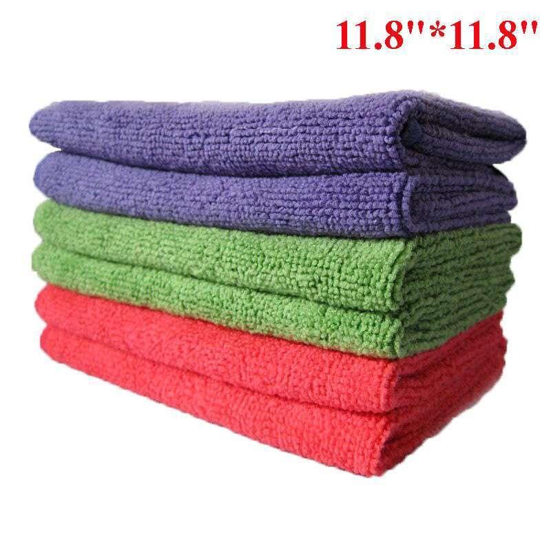 "5pcs/lot Microfiber Towels 11.8""*11.8"" Multi-function Towels Magic Dish Cloth Scouring Pad Red Green Purple,dandys"