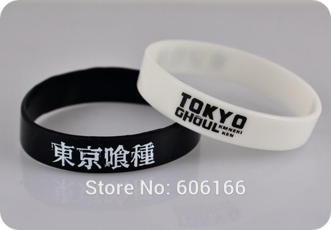 Anime Tokyo Ghoul KEN Bracelet Black White Silicone Bangle WristBand Jewelry